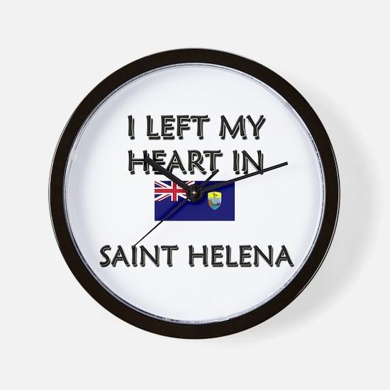 I Left My Heart In Saint Helena Wall Clock