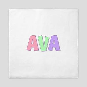 Ava Rainbow Pastel Queen Duvet