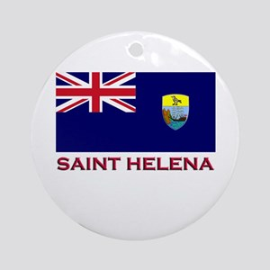 Saint Helena Flag Gear Ornament (Round)