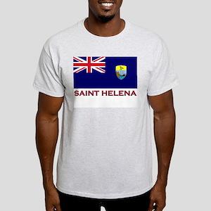 Saint Helena Flag Gear Ash Grey T-Shirt