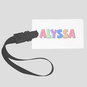 Alyssa Rainbow Pastel Large Luggage Tag