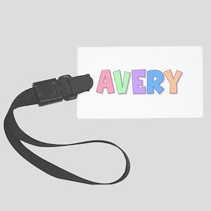 Avery Rainbow Pastel Large Luggage Tag