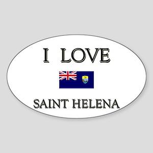 I Love Saint Helena Oval Sticker