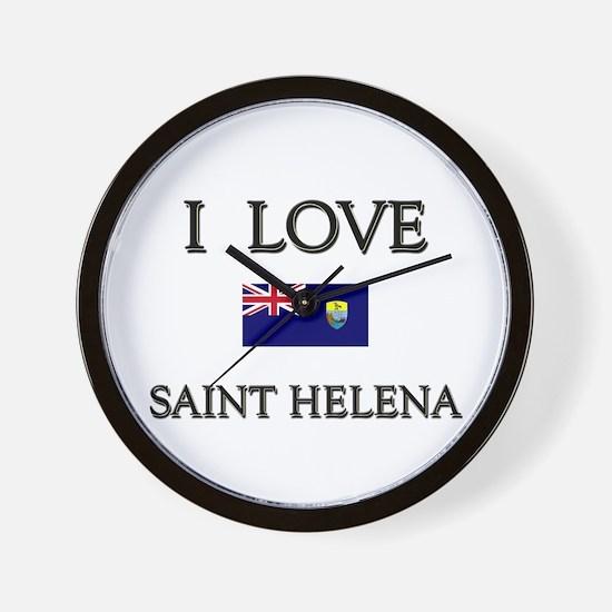 I Love Saint Helena Wall Clock
