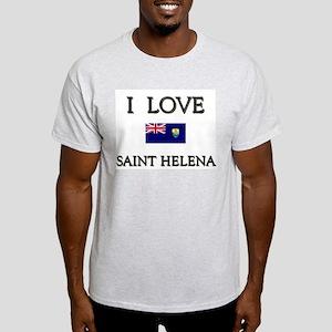 I Love Saint Helena Ash Grey T-Shirt