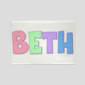 Beth Rainbow Pastel Rectangle Magnet