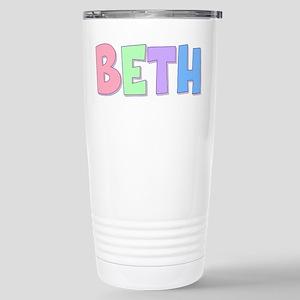 Beth Rainbow Pastel Stainless Steel Travel Mug