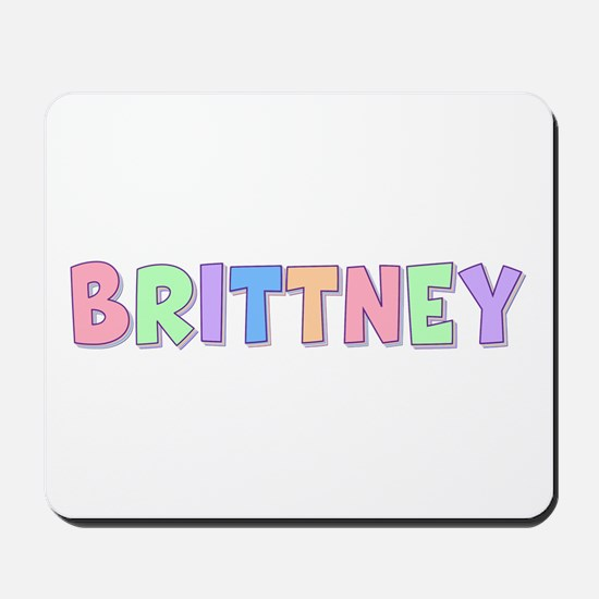 Brittney Rainbow Pastel Mousepad