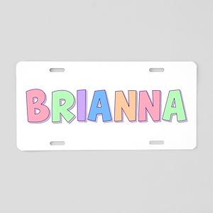 Brianna Rainbow Pastel Aluminum License Plate