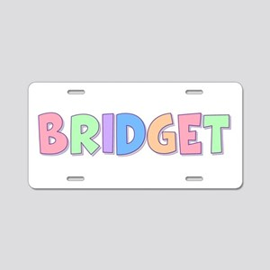 Bridget Rainbow Pastel Aluminum License Plate