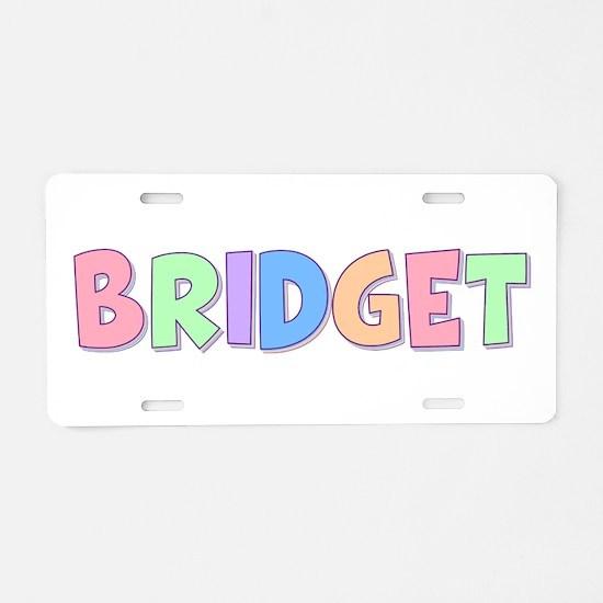 Bridget Rainbow Pastel Aluminum License Plate