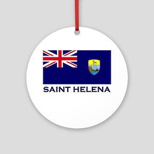 Saint Helena Flag Merchandise Ornament (Round)