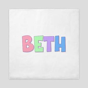Beth Rainbow Pastel Queen Duvet