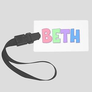 Beth Rainbow Pastel Large Luggage Tag