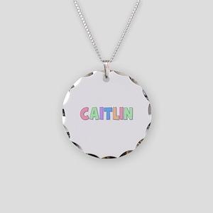 Caitlin Rainbow Pastel Necklace Circle Charm