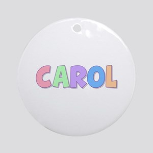 Carol Rainbow Pastel Round Ornament