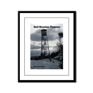 Bald Mountain Firetower Framed Panel Print