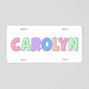 Carolyn Rainbow Pastel Aluminum License Plate