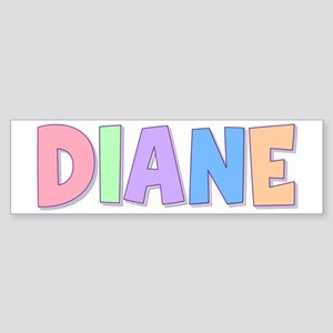 Diane Rainbow Pastel Bumper Sticker
