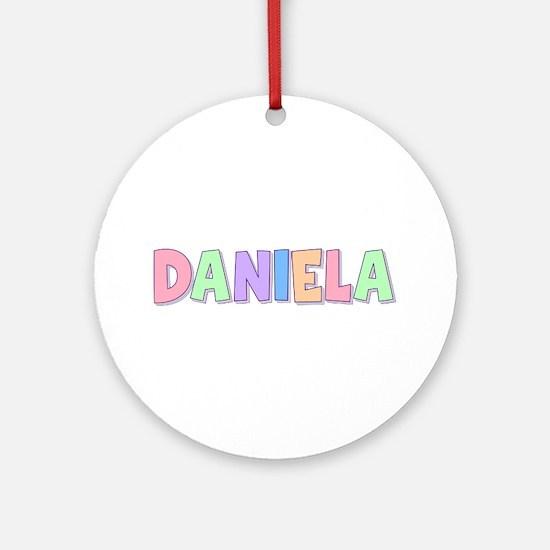 Daniela Rainbow Pastel Round Ornament