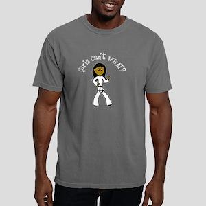 karate2-black-dark Mens Comfort Colors Shirt