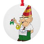 Manny The Mason Round Ornament
