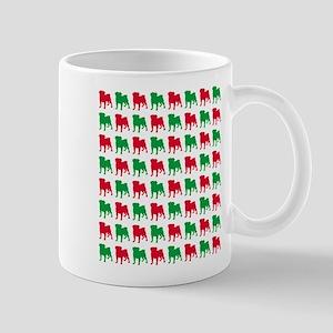 Pug Christmas or Holiday Silhouettes Mug
