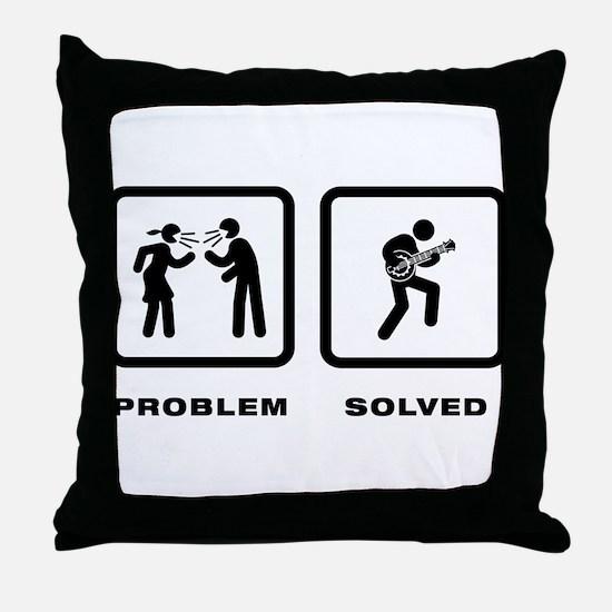 Banjo Player Throw Pillow