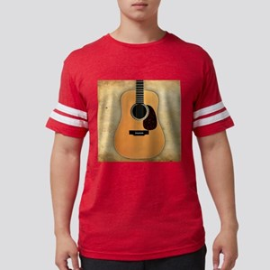 Acoustic Guitar (square) Mens Football Shirt