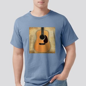 Acoustic Guitar (square) Mens Comfort Colors Shirt