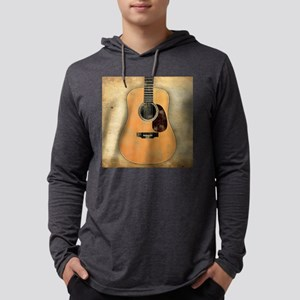 Acoustic Guitar worn (square) Mens Hooded Shirt
