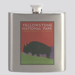 Yellowstone Bison Flask