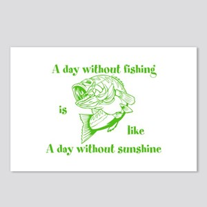 A day without fishing Postcards (Package of 8)