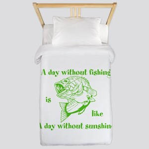 A day without fishing Twin Duvet