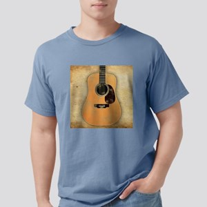 Acoustic Guitar worn (sq Mens Comfort Colors Shirt