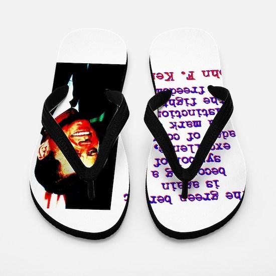 The Green Beret Is Again - John Kennedy Flip Flops