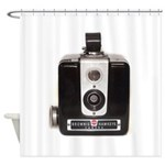 The Brownie Hawkeye Camera Shower Curtain