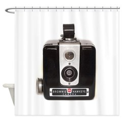 The Brownie Hawkeye Camera Shower Curtain