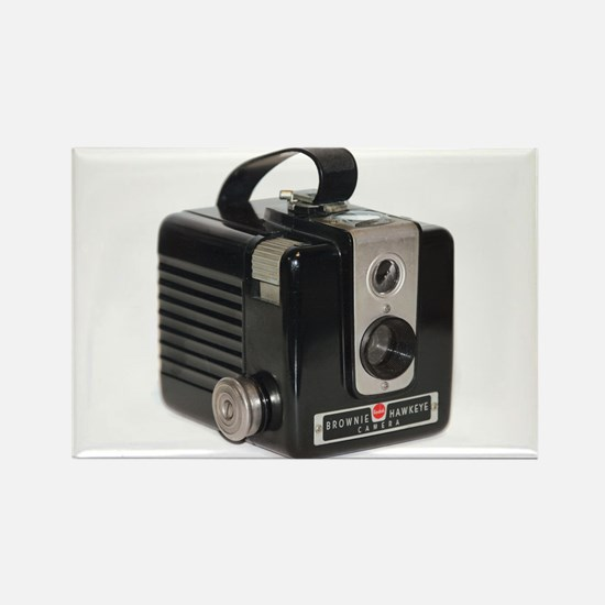The Brownie Hawkeye Camera Rectangle Magnet