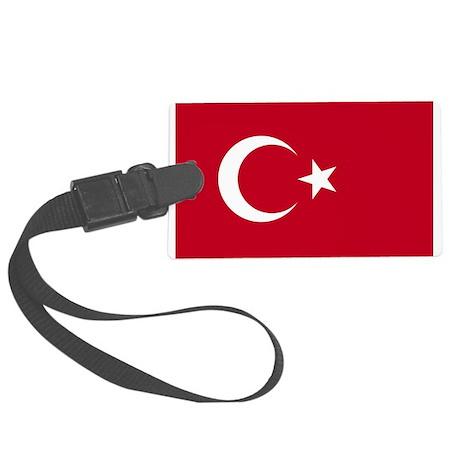 Turkish Flag Large Luggage Tag