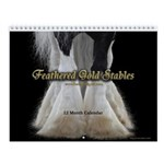 Feathered Gold Stables Gypsy Horse Wall Calendar