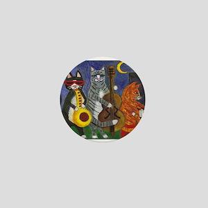 Jazz Cats at Night Mini Button