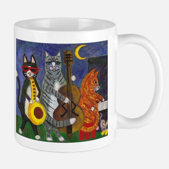 Jazz Cats at Night Mug