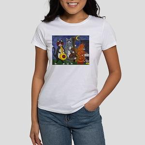 Jazz Cats at Night Women's T-Shirt