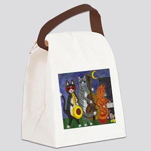 Jazz Cats at Night Canvas Lunch Bag