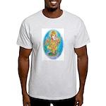 Ash Grey T-Shirt ganesha Large