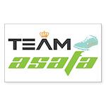 Team Asafa Sticker (Rectangle)