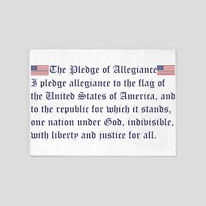 The Pledge of Allegiance 5'x7'Area Rug