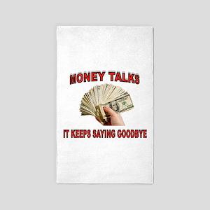 MONEY TALKS 3'x5' Area Rug