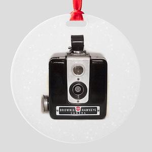 The Brownie Hawkeye Camera Round Ornament